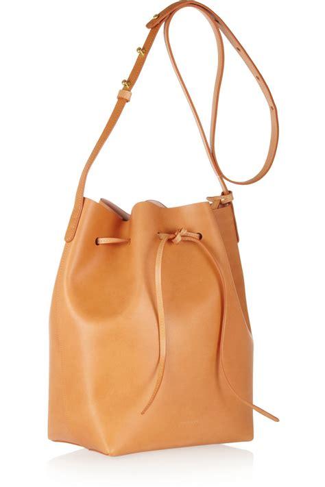 17 Best Mansur Gavriel Bags Mansur Gavriel Drawstring Leather Shoulder Bag In Brown Lyst