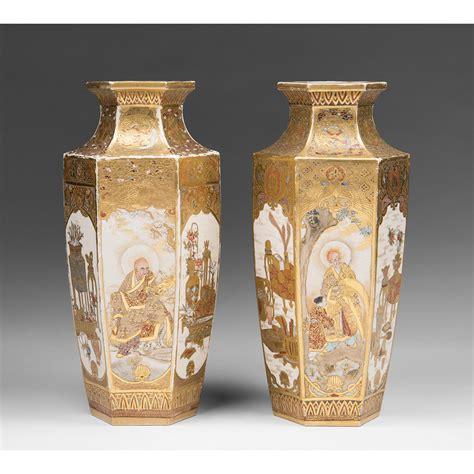 pair of meiji period japanese satsuma vases from piatik on