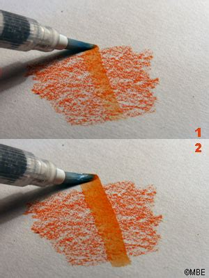 tutorial on using watercolor pencils follow these steps to use a waterbrush on an and tutorials