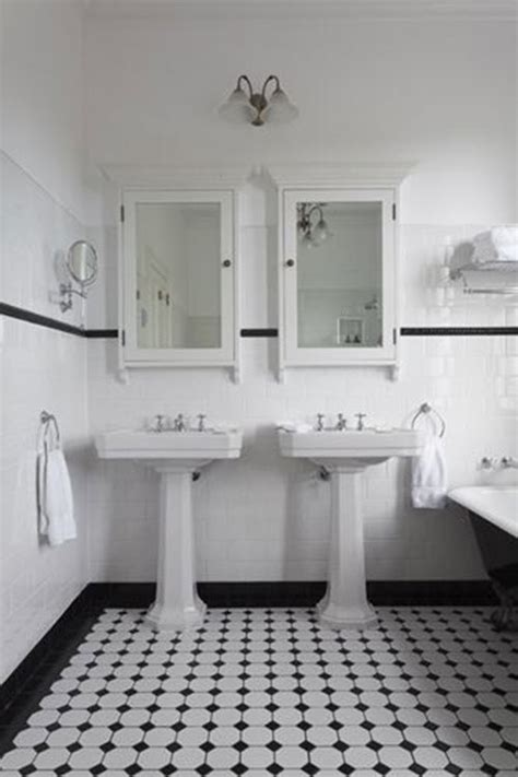 black and white tile bathroom decorating ideas 25 black and white victorian bathroom tiles ideas and pictures