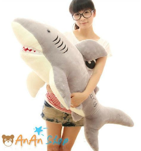 big shark pillow new 1m 39 big plush great white shark soft hold