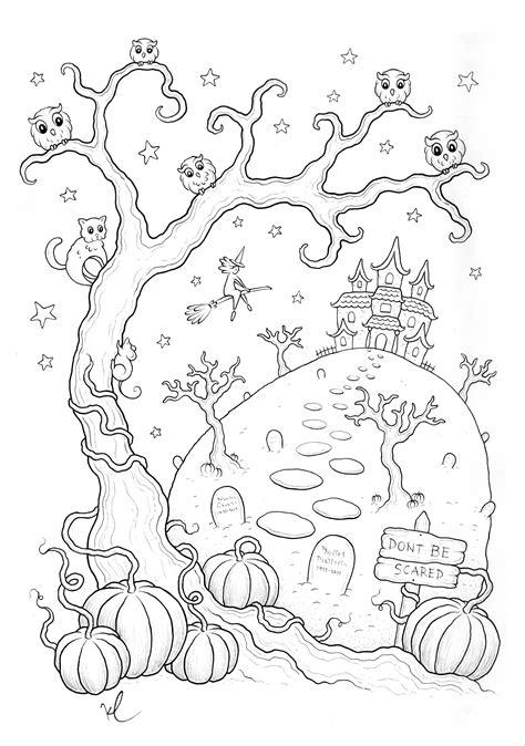 Coloriage halloween a imprimer qui fait peur par