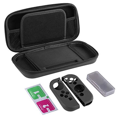 Nintendo Switch Silicon Protection Kit 11 In 1 Free Screen bestico etui nintendo switch kit de protection 7 in1 coque de transport nintendo switch avec