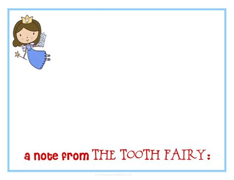 a note from the tooth fairy