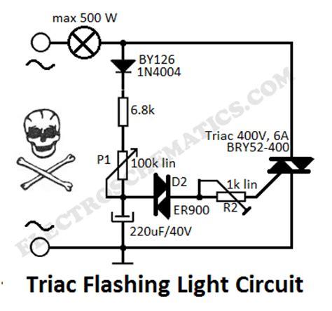 blinking light circuit diagram light with triacs circuit diagram world