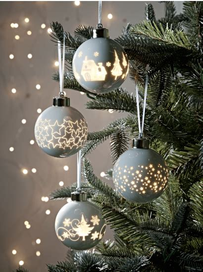 outside baubles tree decorations traditional gold silver glass baubles uk