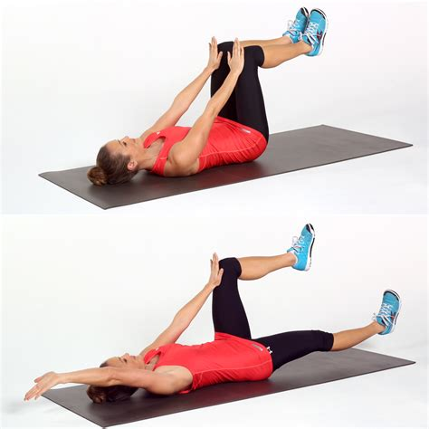 dead bug 25 ab toning no crunches required popsugar fitness uk