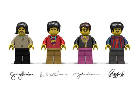 The Beatles Lego Minifigure your next lego ideas sets are the beatles yellow submarine and apollo 11 saturn v