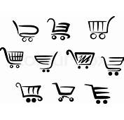 Shopping Cart Icons  Stock Vector Colourbox