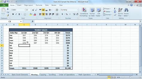 tutorial video excel 2010 microsoft excel 2010 tutorial entering information into