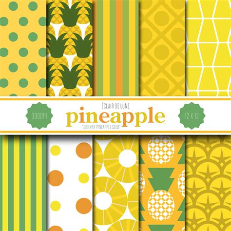 How To Make A Pineapple Out Of Paper - pineapple digital scrapbook paper yellow green