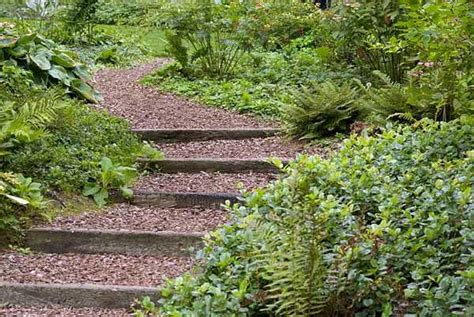 garden steps ideas wooden outdoor stairs and landscaping steps on slope