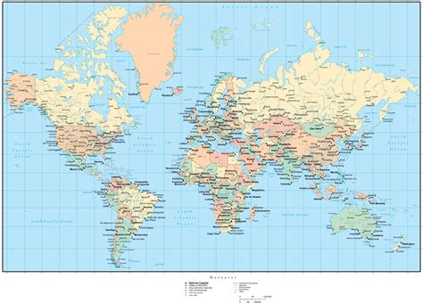 world map  countries  states canadian provinces