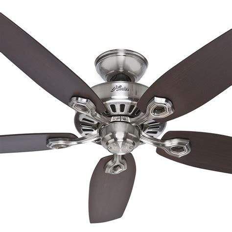 hunter builder elite ceiling fan hunter builder elite ceiling fan brushed nickel 52