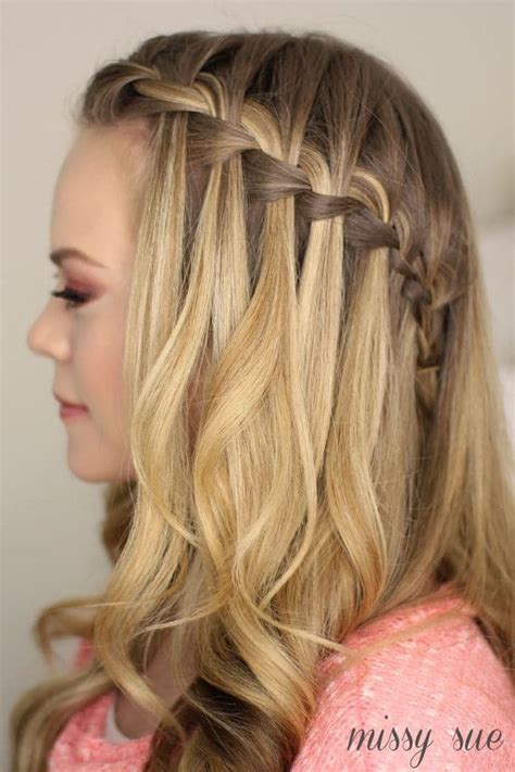 hairstyles how to do a waterfall different styles of the waterfall braid stylishwife