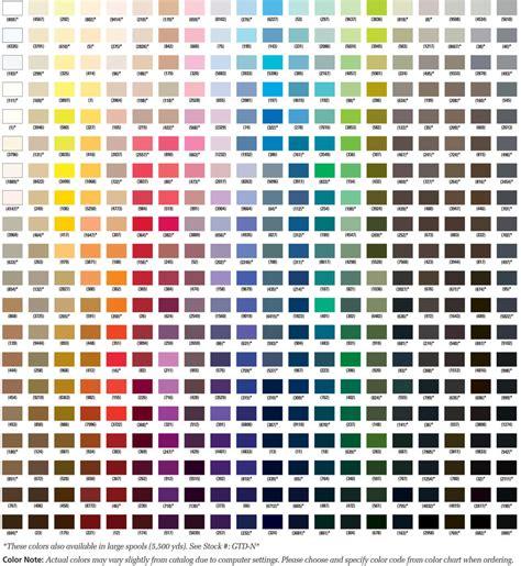 thread color chart gutermann mara 30 100 polyester threads 300 m 1 spool