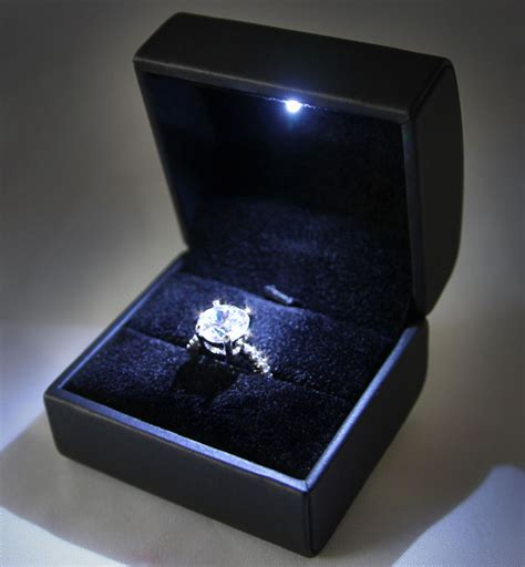 btr lighted engagement ring box bling the ringled