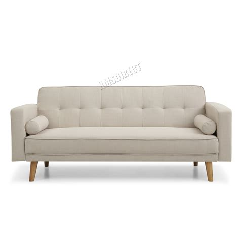 beige fabric sofa foxhunter fabric sofa bed 3 seater couch luxury home