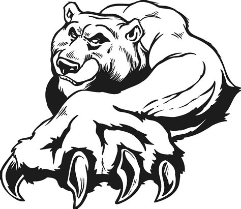 mean bear coloring page animal pictures for kids to colour 89 mean bear coloring