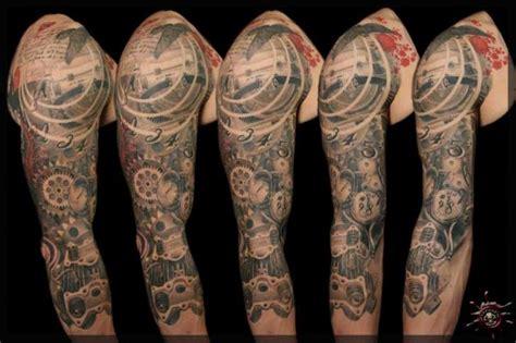 arm tattoo gears arm gear tattoo by caesar tattoo
