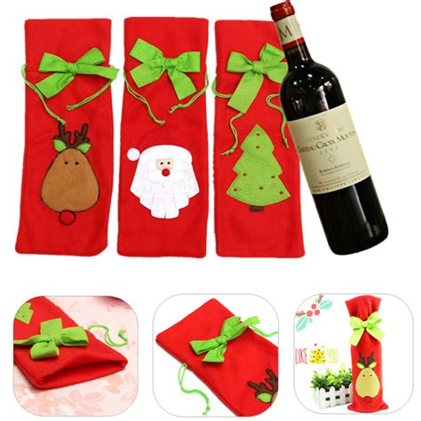 Santa Claus Wine Bag santa claus wine bottle cover bag wine bags