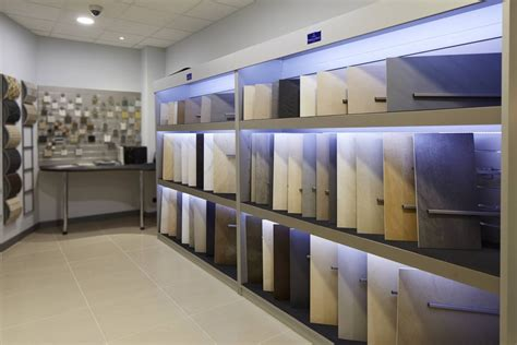 Vision display amp interiors tile stone amp flooring displays uk single tile bookcase displays