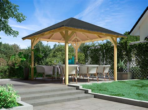 pavillon mit festem dach 3x4 karibu pavillon chur 1 lidl deutschland lidl de