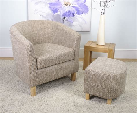 Tub Chair And Stool by Falkirk Tweed Fabric Tub Chair And Stool Just Armchairs