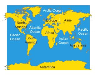 map world ks1 bitesize ks3 geography atlas skills revision 2