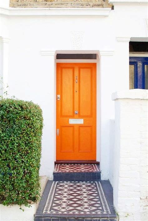 orange front door coloring the front door meanings and inspiration