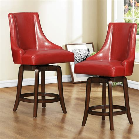 24 inch counter height swivel stools vella warm swivel 24 inch counter height stool set of