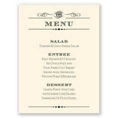 Simple typography style wedding menu card personalize it in your
