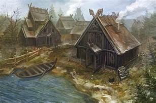 Ballard Designs Art viking village historyscapes pinterest