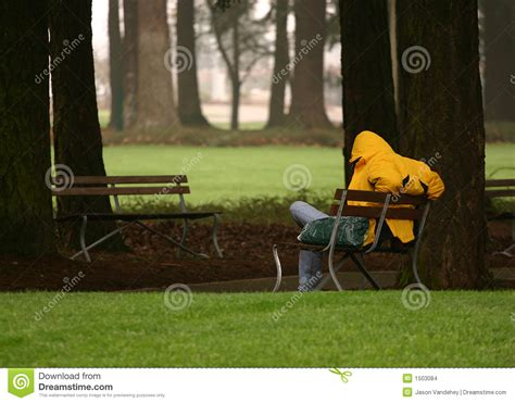 sitting park bench man sitting on park bench homeless stock images image 1503084