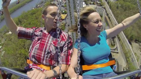 tallest swing ride in the world world s tallest swing ride opens at six flags new england