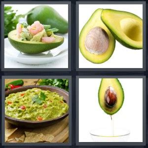 4 Letter Words Vegetables 4 pics 1 word answer for salad pit guacamole vegetable