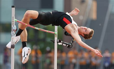 high jump drouin s high jump gold highlights canadian track and field medal haul toronto