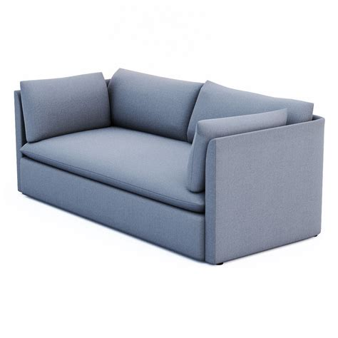west elm shelter sleeper sofa west elm shelter sofa 3d model max obj 3ds fbx dxf