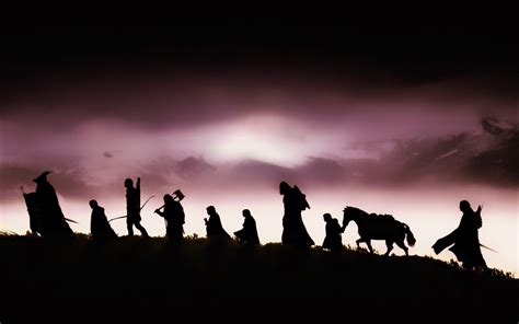 the lord of the the lord of the rings characters silhouette wallpaper
