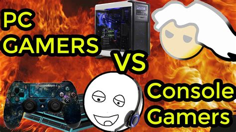 pc and console pc gamers vs console gamers