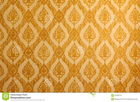 traditional pattern photography thai traditional classic pattern on temple wall stock