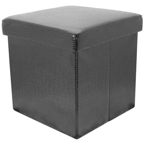 Crocodile Ottoman Faux Crocodile Skin Folding Storage Pouffe Seat Ottoman Box With Lid