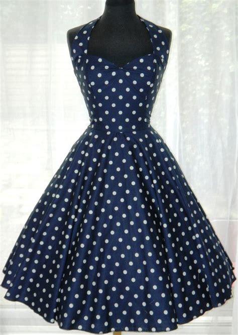 vintage 50s rockabilly style halter dress by