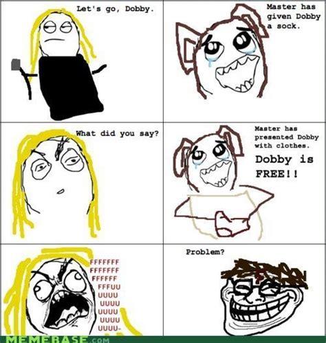 Meme Comics Online - dobby free funny hahaha harry potter image 112184