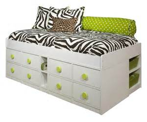 Wood Twin Bed Frame With Drawers White Bed Frames With Drawers Bed Amp Bath