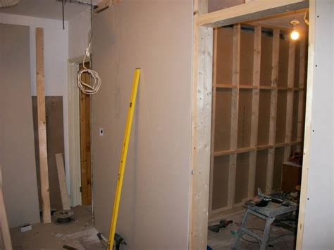 how to build a stud wall in a bathroom build a stud wall from timber and plasterboard per sqm