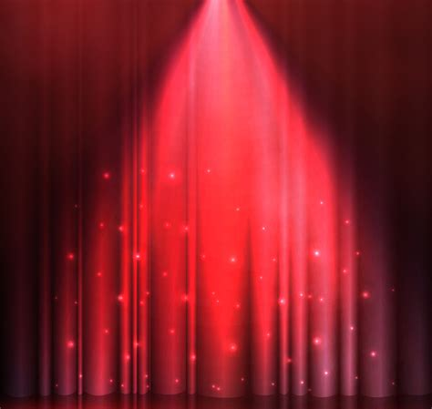 free stage background design vector preview red spotlight stage vector background material