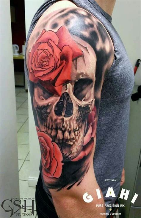 skulls n roses tattoos best 25 skull tattoos ideas on lower