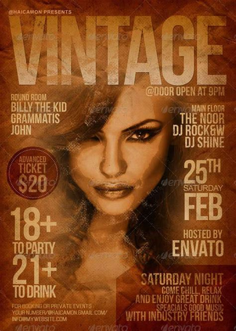 design magazine vintage 21 vintage party flyers design trends premium psd