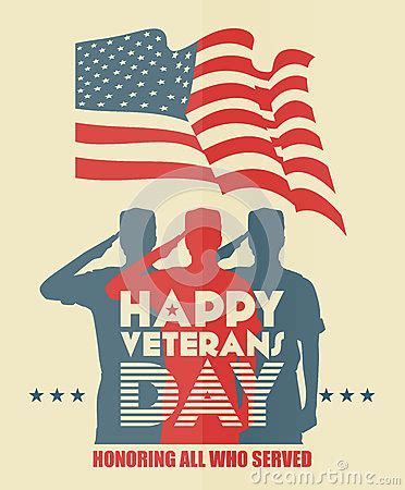 Happy Veterans Day To Army Soldiergreeting Card Template by Veterans Day Greeting Card Us Soldier In Silhouette